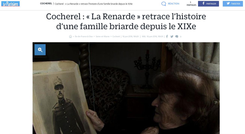 La Renarde se balade dans Le Parisien !